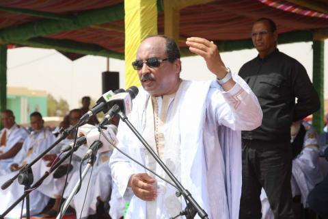 الرئيس الموريتاني محمد ولد عبد العزيز وجه تأنيبا حادا لمسؤولي نواذيبو الإداريين والأمنيين