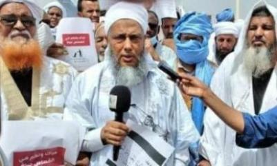 الشيخ الددو يقود وقفة للعلماء تطالب بتطبيق الشريعة في البلاد