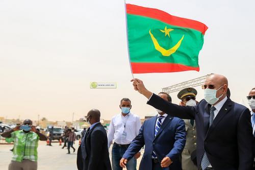 الرئيس ولد الغزواني يشرف على وضع حجر الأساس لبناء جسرين في العاصمة نواكشوط